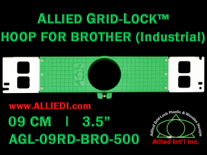 9 cm (3.5 inch) Round Allied Grid-Lock Plastic Embroidery Hoop - Brother 500