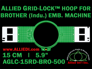 15 cm (5.9 inch) Round Allied Grid-Lock (New Design) Plastic Embroidery Hoop - Brother 500