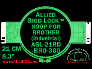 21 cm (8.3 inch) Round Allied Grid-Lock Plastic Embroidery Hoop - Brother 360