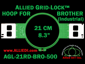 21 cm (8.3 inch) Round Allied Grid-Lock Plastic Embroidery Hoop - Brother 500