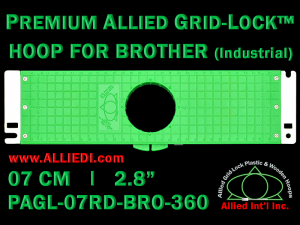 7 cm (2.8 inch) Round Premium Allied Grid-Lock Plastic Embroidery Hoop - Brother 360