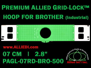 7 cm (2.8 inch) Round Premium Allied Grid-Lock Plastic Embroidery Hoop - Brother 500