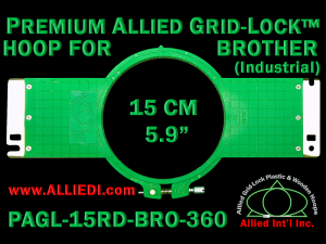 15 cm (5.9 inch) Round Premium Allied Grid-Lock Plastic Embroidery Hoop - Brother 360