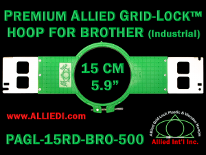 15 cm (5.9 inch) Round Premium Allied Grid-Lock Plastic Embroidery Hoop - Brother 500