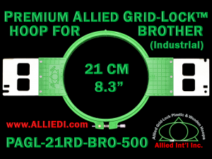 21 cm (8.3 inch) Round Premium Allied Grid-Lock Plastic Embroidery Hoop - Brother 500