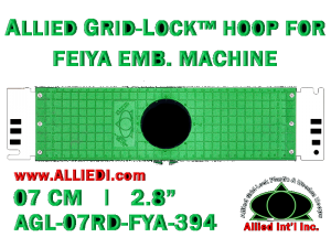 7 cm (2.8 inch) Round Allied Grid-Lock Plastic Embroidery Hoop - Feiya 394