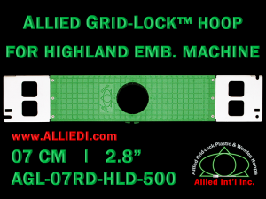 7 cm (2.8 inch) Round Allied Grid-Lock Plastic Embroidery Hoop - Highland 500