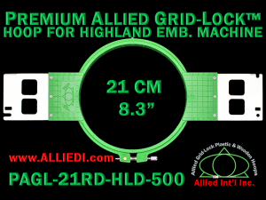 21 cm (8.3 inch) Round Premium Allied Grid-Lock Plastic Embroidery Hoop - Highland 500