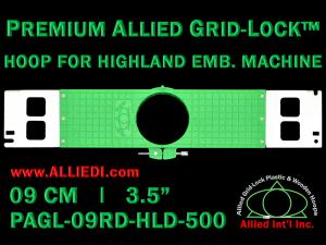 9 cm (3.5 inch) Round Premium Allied Grid-Lock Plastic Embroidery Hoop - Highland 500