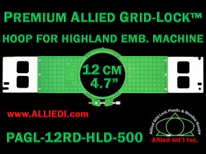 12 cm (4.7 inch) Round Premium Allied Grid-Lock Plastic Embroidery Hoop - Highland 500