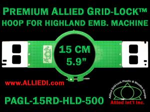 15 cm (5.9 inch) Round Premium Allied Grid-Lock Plastic Embroidery Hoop - Highland 500