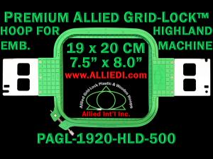 19 x 20 cm (7.5 x 8 inch) Rectangular Premium Allied Grid-Lock Plastic Embroidery Hoop - Highland 500