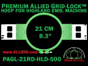 21 cm (8.3 inch) Round Premium Allied Grid-Lock Plastic Embroidery Hoop - Highland 500