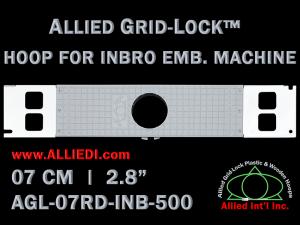 7 cm (2.8 inch) Round Allied Grid-Lock Plastic Embroidery Hoop - Inbro 500