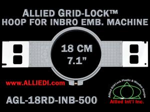 18 cm (7.1 inch) Round Allied Grid-Lock Plastic Embroidery Hoop - Inbro 500