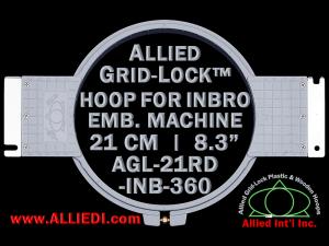 21 cm (8.3 inch) Round Allied Grid-Lock Plastic Embroidery Hoop - Inbro 360