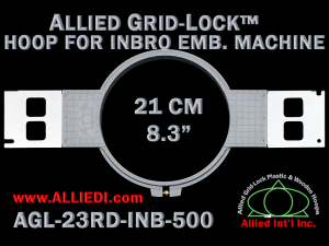 21 cm (8.3 inch) Round Allied Grid-Lock Plastic Embroidery Hoop - Inbro 500