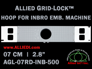 7 cm (2.8 inch) Round Allied Grid-Lock Plastic Embroidery Hoop - Inbro 500