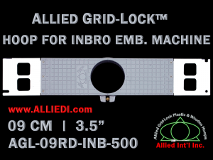 9 cm (3.5 inch) Round Allied Grid-Lock Plastic Embroidery Hoop - Inbro 500