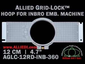 12 cm (4.7 inch) Round Allied Grid-Lock (New Design) Plastic Embroidery Hoop - Inbro 360
