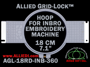 18 cm (7.1 inch) Round Allied Grid-Lock Plastic Embroidery Hoop - Inbro 360