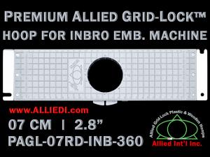 7 cm (2.8 inch) Round Premium Allied Grid-Lock Plastic Embroidery Hoop - Inbro 360