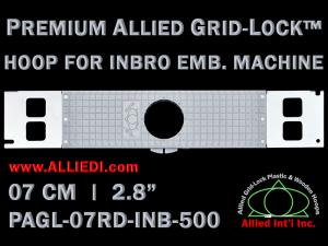 7 cm (2.8 inch) Round Premium Allied Grid-Lock Plastic Embroidery Hoop - Inbro 500