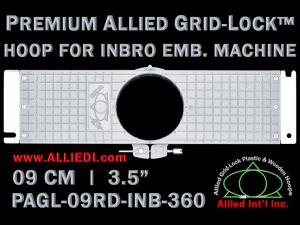 9 cm (3.5 inch) Round Premium Allied Grid-Lock Plastic Embroidery Hoop - Inbro 360