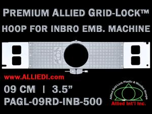 9 cm (3.5 inch) Round Premium Allied Grid-Lock Plastic Embroidery Hoop - Inbro 500