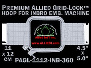 11 x 12 cm (4.5 x 5 inch) Rectangular Premium Allied Grid-Lock Plastic Embroidery Hoop - Inbro 360