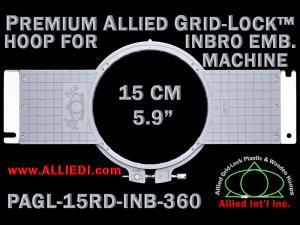 15 cm (5.9 inch) Round Premium Allied Grid-Lock Plastic Embroidery Hoop - Inbro 360