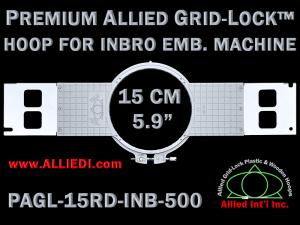 15 cm (5.9 inch) Round Premium Allied Grid-Lock Plastic Embroidery Hoop - Inbro 500