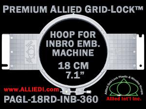 18 cm (7.1 inch) Round Premium Allied Grid-Lock Plastic Embroidery Hoop - Inbro 360