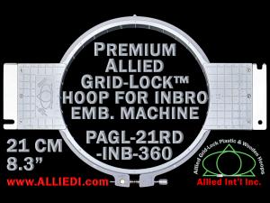 21 cm (8.3 inch) Round Premium Allied Grid-Lock Plastic Embroidery Hoop - Inbro 360