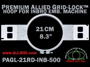 21 cm (8.3 inch) Round Premium Allied Grid-Lock Plastic Embroidery Hoop - Inbro 500