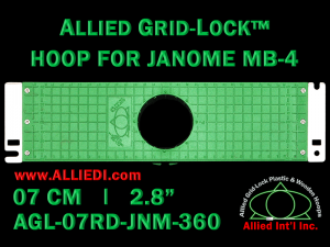 7 cm (2.8 inch) Round Allied Grid-Lock Plastic Embroidery Hoop - Janome 360