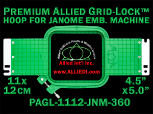 11 x 12 cm (4.5 x 5 inch) Rectangular Premium Allied Grid-Lock Plastic Embroidery Hoop - Janome 360
