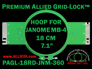 18 cm (7.1 inch) Round Premium Allied Grid-Lock Plastic Embroidery Hoop - Janome 360