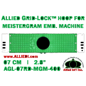 7 cm (2.8 inch) Round Allied Grid-Lock Plastic Embroidery Hoop - Meistergram 400