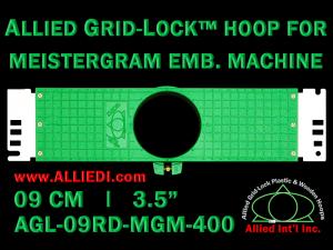 9 cm (3.5 inch) Round Allied Grid-Lock Plastic Embroidery Hoop - Meistergram 400