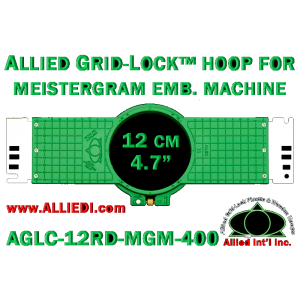 12 cm (4.7 inch) Round Allied Grid-Lock (New Design) Plastic Embroidery Hoop - Meistergram 400