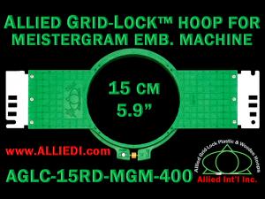 15 cm (5.9 inch) Round Allied Grid-Lock (New Design) Plastic Embroidery Hoop - Meistergram 400