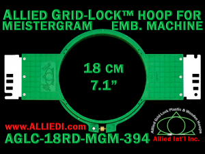 18 cm (7.1 inch) Round Allied Grid-Lock (New Design) Plastic Embroidery Hoop - Meistergram 394