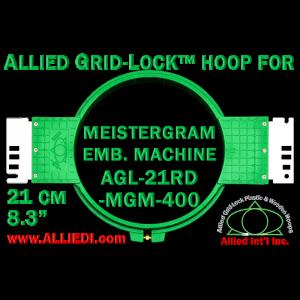 21 cm (8.3 inch) Round Allied Grid-Lock Plastic Embroidery Hoop - Meistergram 400