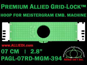 7 cm (2.8 inch) Round Premium Allied Grid-Lock Plastic Embroidery Hoop - Meistergram 394