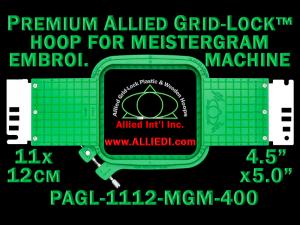11 x 12 cm (4.5 x 5 inch) Rectangular Premium Allied Grid-Lock Plastic Embroidery Hoop - Meistergram 400