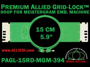 15 cm (5.9 inch) Round Premium Allied Grid-Lock Plastic Embroidery Hoop - Meistergram 394