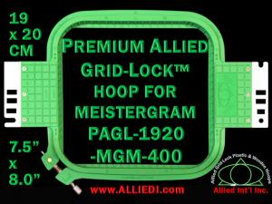 19 x 20 cm (7.5 x 8 inch) Rectangular Premium Allied Grid-Lock Plastic Embroidery Hoop - Meistergram 400