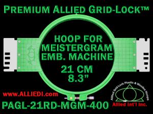 21 cm (8.3 inch) Round Premium Allied Grid-Lock Plastic Embroidery Hoop - Meistergram 400