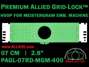 7 cm (2.8 inch) Round Premium Allied Grid-Lock Plastic Embroidery Hoop - Meistergram 400